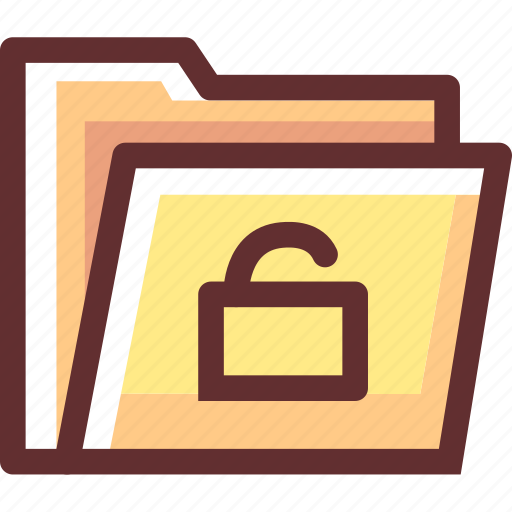 folder, login, secure, security icon
