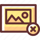 cancel, close, delete, image, remove, trash icon