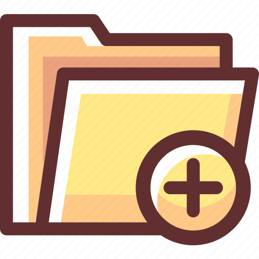 Added, data, file, folder, yellow icon - Download on Iconfinder