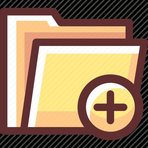 added, data, file, folder, yellow icon