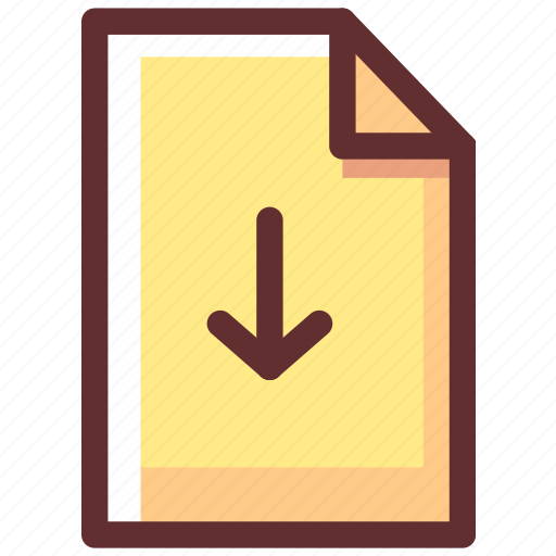 Cloud, direction, down, download, file icon - Download on Iconfinder