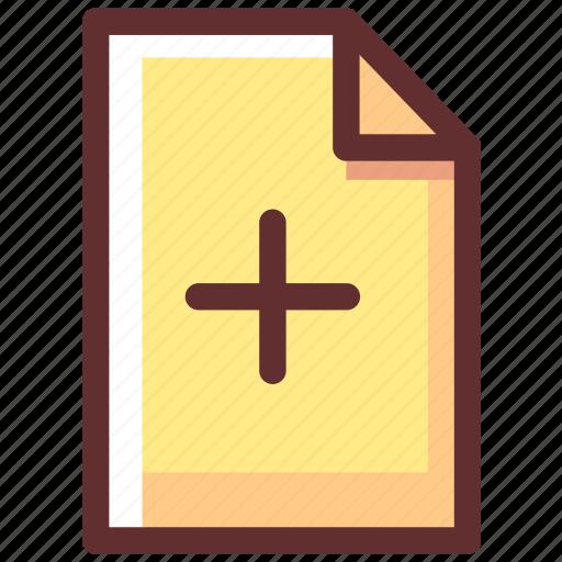 add, data, file, new, plus icon