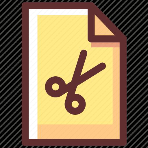 cut, data, equipment, file, tool icon