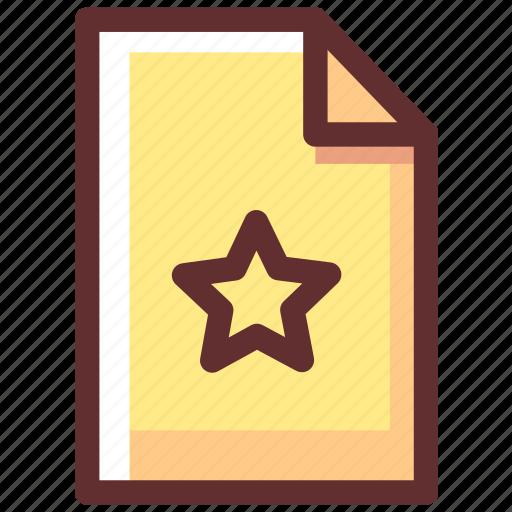 award, favorite, file, medal, reward, star icon
