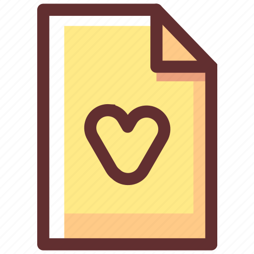 Extension, favorite, file, files, heart icon - Download on Iconfinder