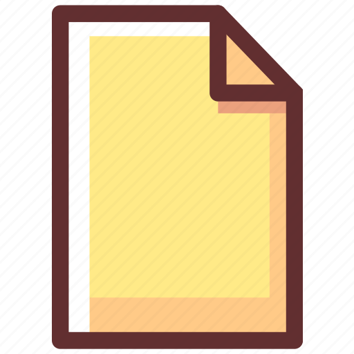 document, extension, file, paper icon
