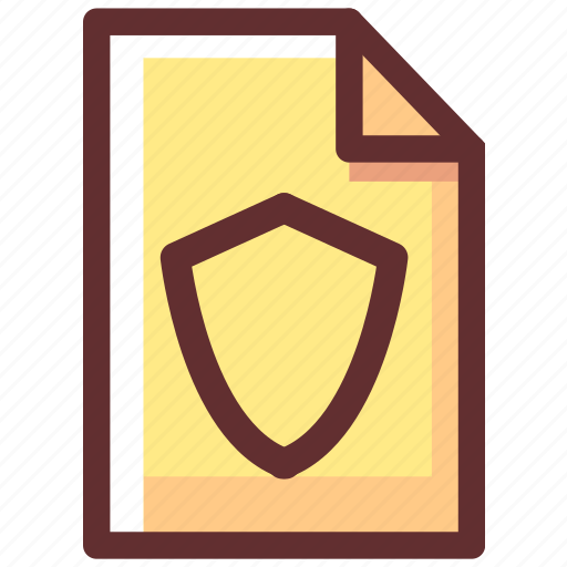 file, protect, protection, safety, secure, security, shield icon