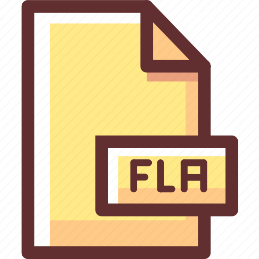 file, fla, flash, macromedia icon