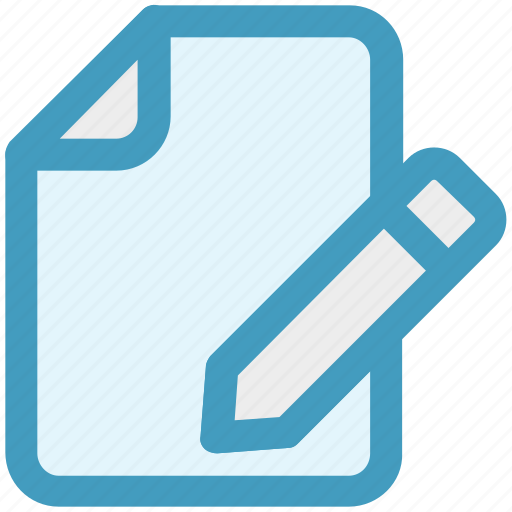 Document, edit, file, menu, pencil, writing icon - Download on Iconfinder