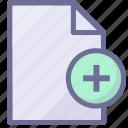 add file, create file, document, file, paper icon