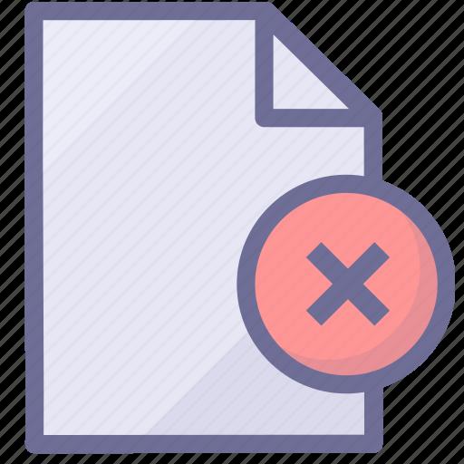 delete file, document, file icon