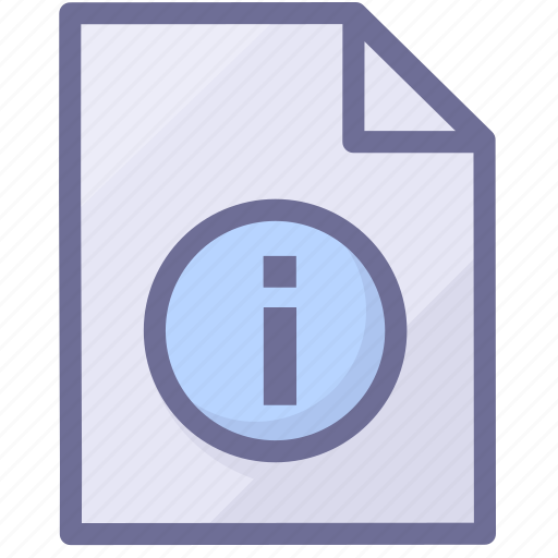 document, file information, paper icon