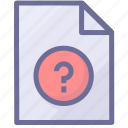 help document, help file, paper icon