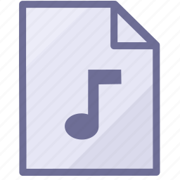 music document, music file, paper icon
