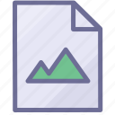 file, image document, image file icon