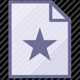 document, favorites file, file, paper icon