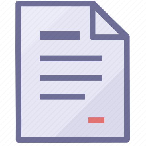 paper, text document, text file icon