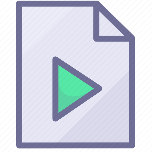 paper, video document, video file icon