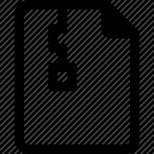 achive, document, file, paper, zip icon