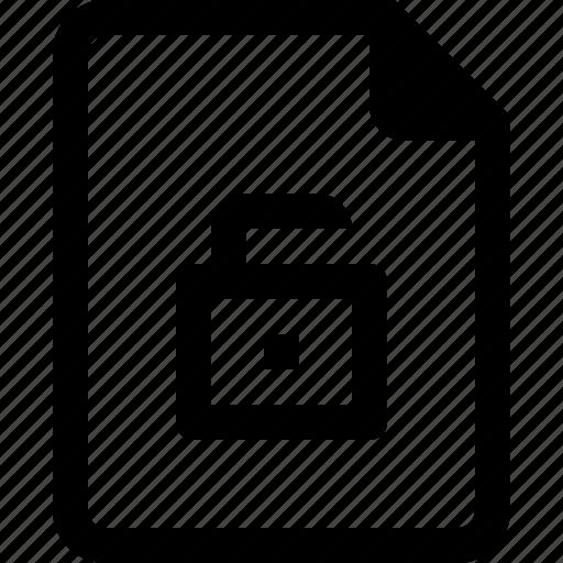 achive, document, file, paper, unlock icon