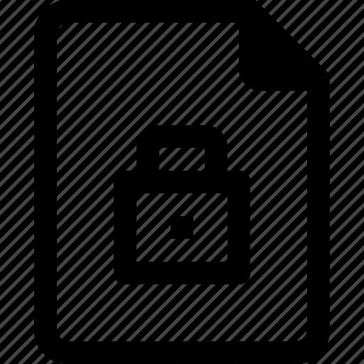 achive, document, file, lock, paper icon