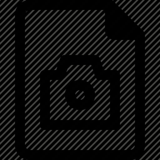 achive, camera, document, file, paper icon