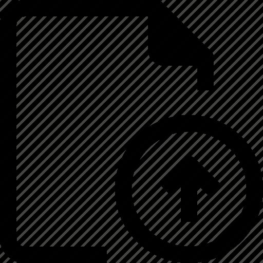 achive, arrow, document, file, paper, up icon