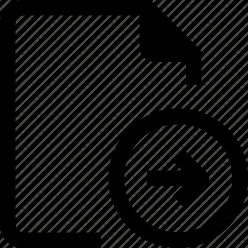 achive, arrow, document, file, paper, right icon