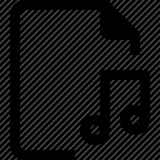 achive, document, file, paper, sound icon