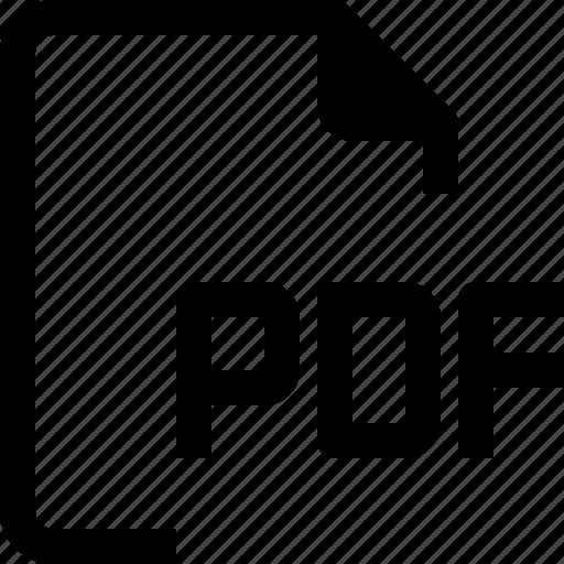 achive, document, file, format, paper, pdf icon