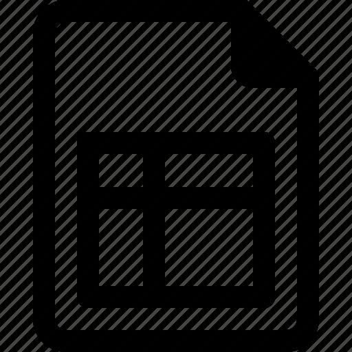 achive, document, file, invoice, paper icon