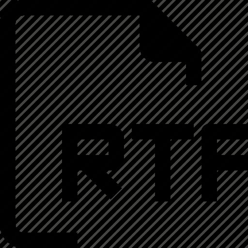 achive, document, file, format, paper, rtf icon