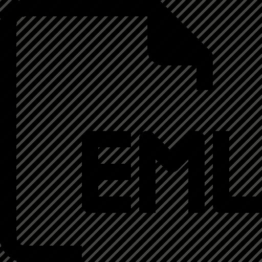 achive, document, eml, file, format, paper icon
