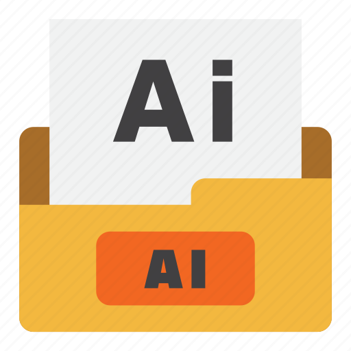 ai file, extension, file type, filetype, format, illustrator file, vector file icon