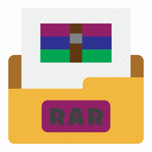 archive file, document, extension, file type, format, rar, rar file icon
