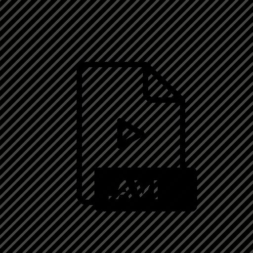 avi, avi file, file extension, multimedia, order, z icon
