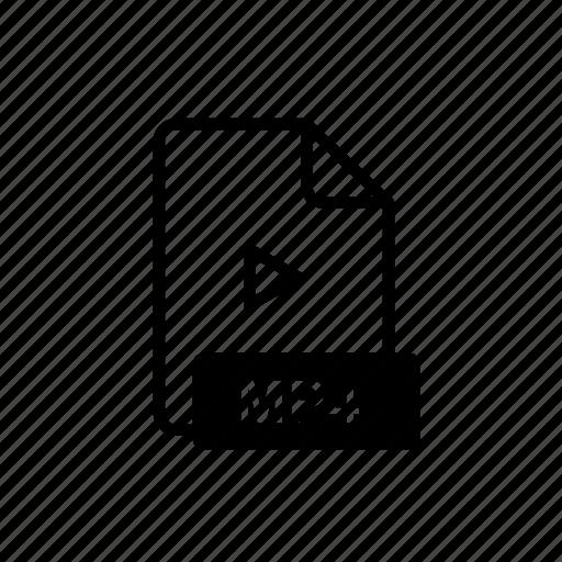 data, file, file extension, folder, mp4, open, storage icon