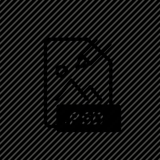 data, file, file extension, folder, open, psd, storage icon