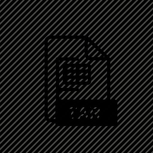 business, data, file, file extension, folder, storage, tar icon