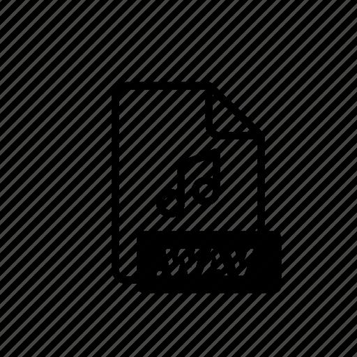 arrow, blue, data, file, file extension, music file, wav icon