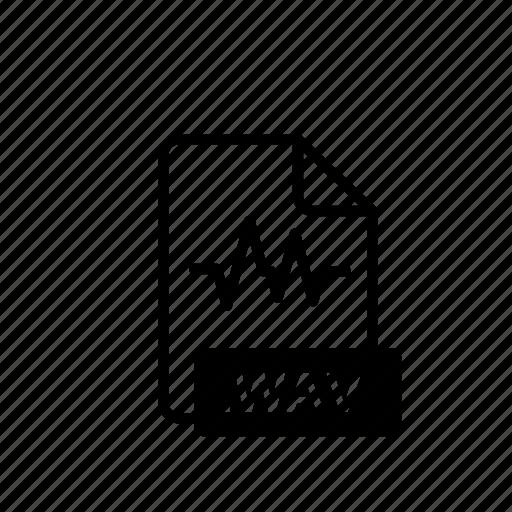 arrow, blue, data, fiel, file, file extension, wav icon