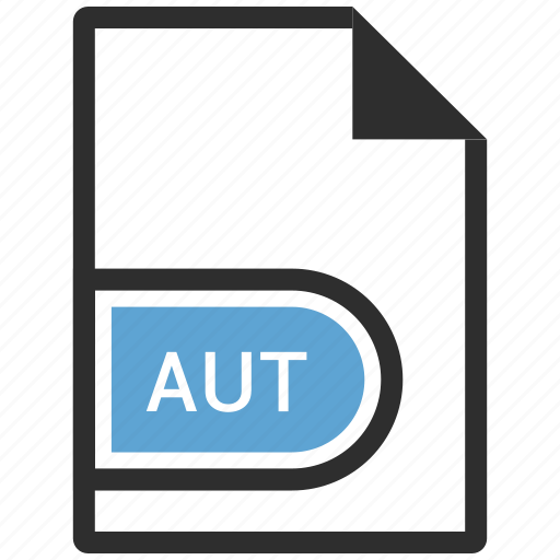 aut, document, file, file extension icon