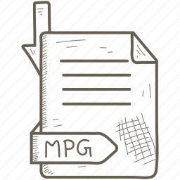 document, file, format, mpg icon