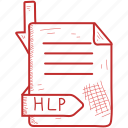 extention, file, format, hlp icon