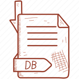 db, extention, file, format icon