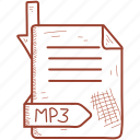 document, file, format, mp3