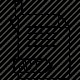 aut, extention, file, format icon