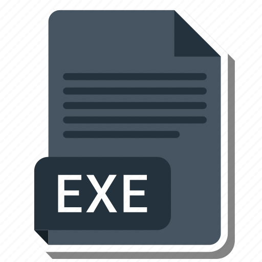 document, exe, file, file format icon