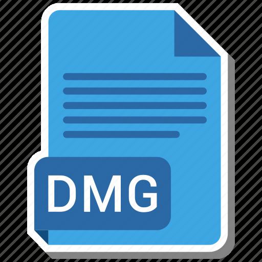 dmg, document, extension, file, folder, format, paper icon