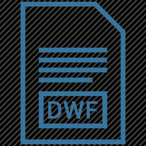 document, dwf, file, filetype icon